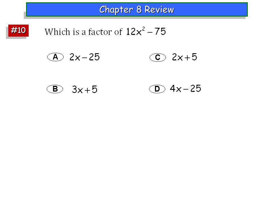 A B C D #10#10