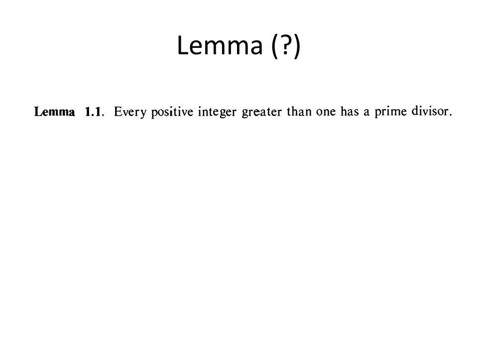 Lemma ( )
