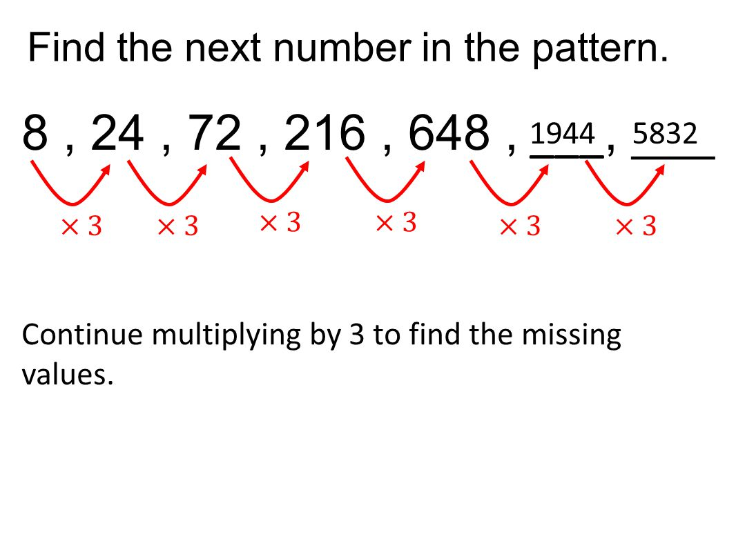 Find the next number in the pattern.