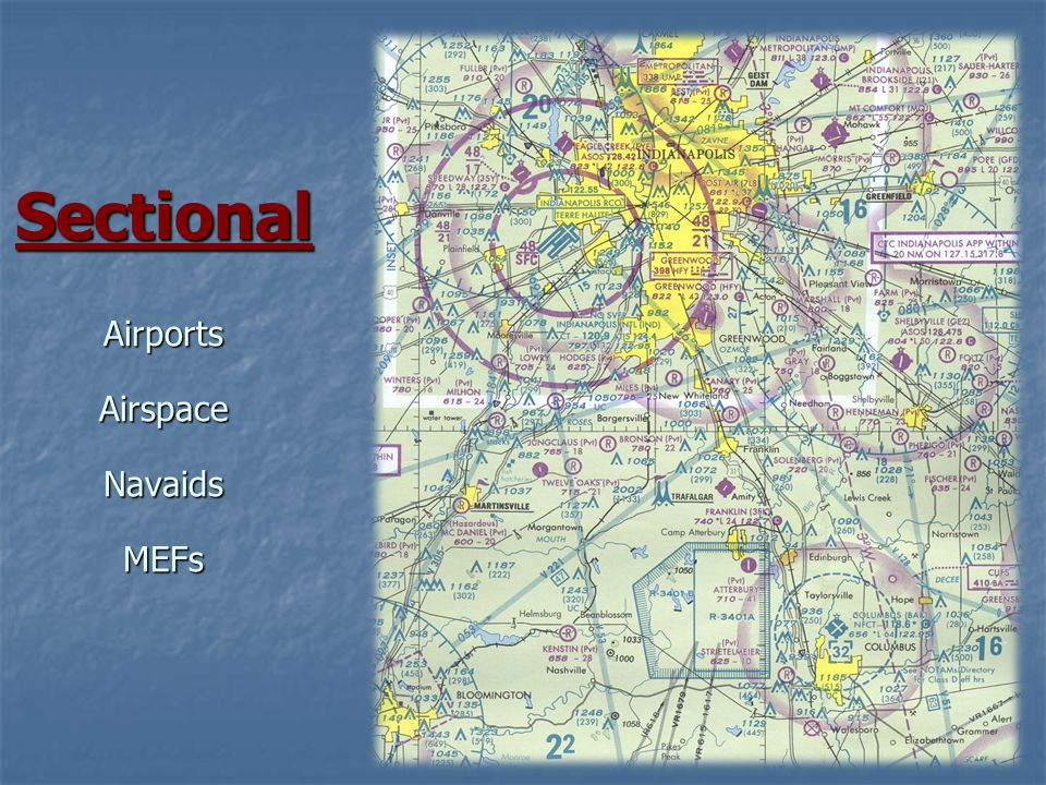 16 Sectional Airports Airspace Navaids MEFs