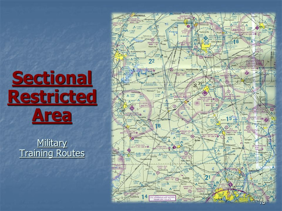 18 Sectional Restricted Area Military Training Routes