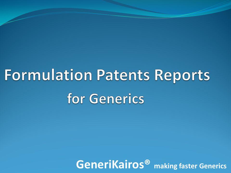 GeneriKairos® making faster Generics