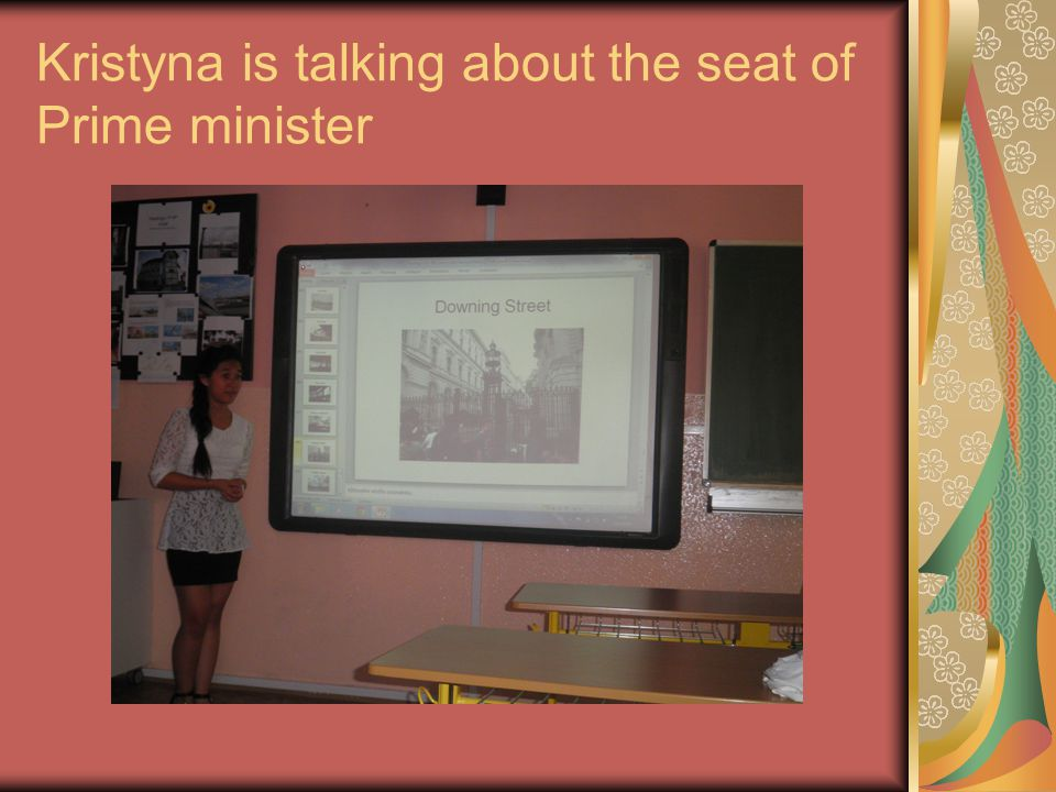 Kristyna is talking about the seat of Prime minister