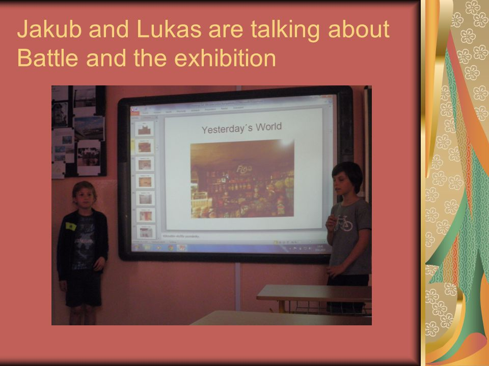 Jakub and Lukas are talking about Battle and the exhibition