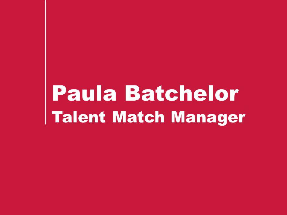 Paula Batchelor Talent Match Manager