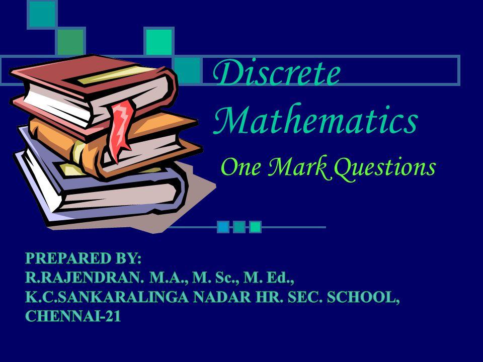 Discrete Mathematics One Mark Questions
