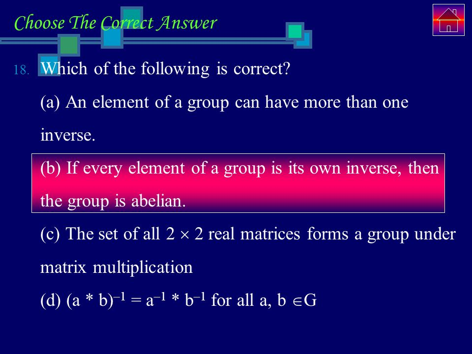 Choose The Correct Answer 18.Which of the following is correct.