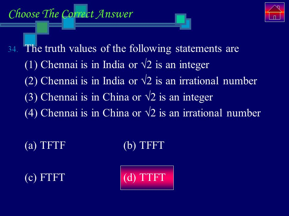 Choose The Correct Answer 34.