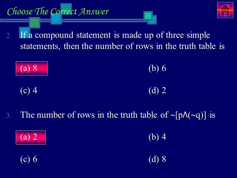 Choose The Correct Answer 2.