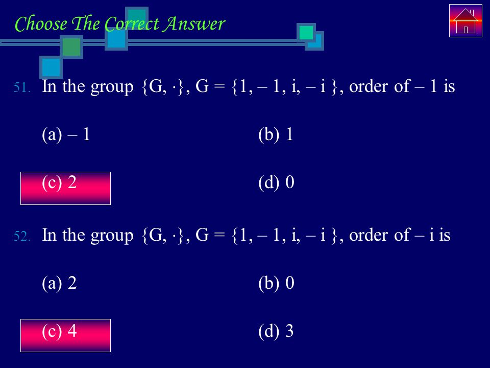 Choose The Correct Answer 51.
