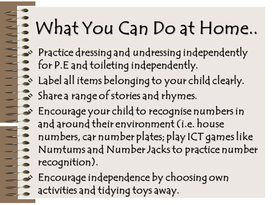 What You Can Do at Home..
