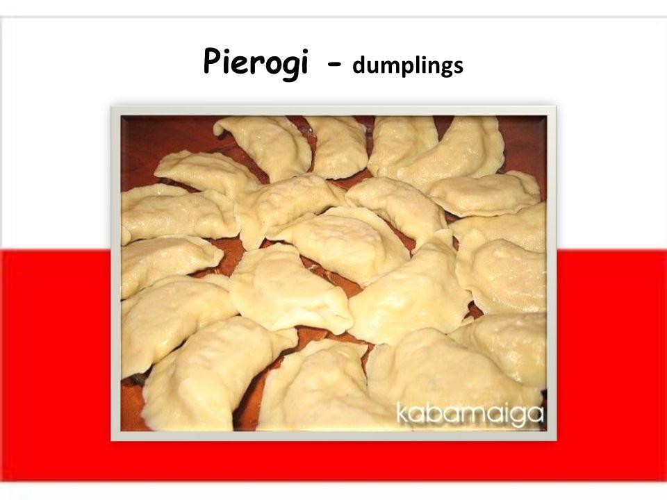 Pierogi - dumplings