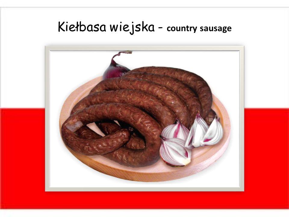 Kiełbasa wiejska - country sausage