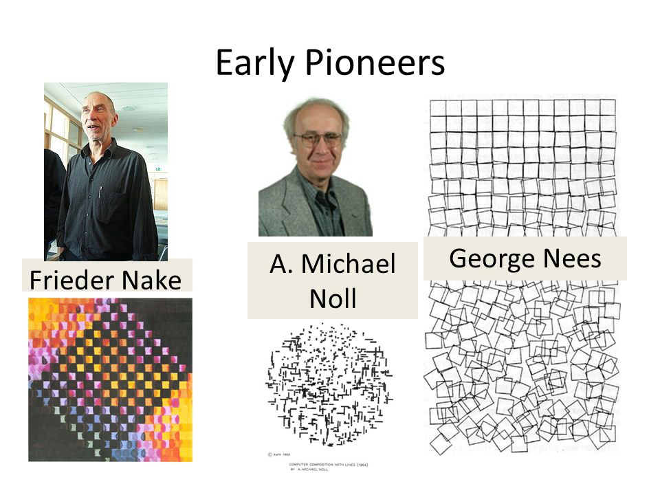 Early Pioneers Frieder Nake A. Michael Noll George Nees