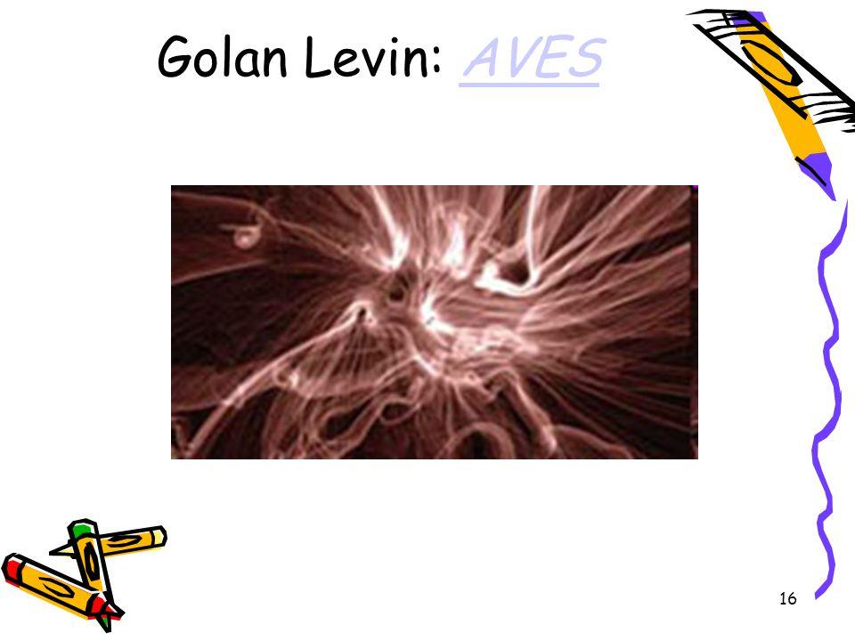 16 Golan Levin: AVESAVES
