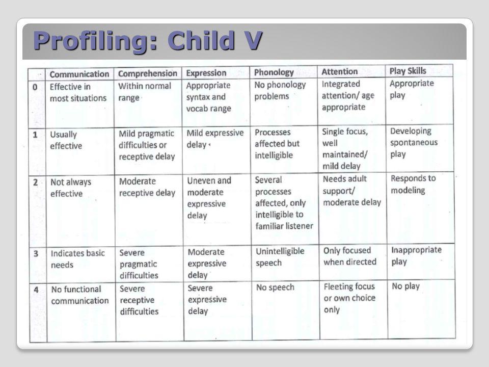 Profiling: Child V
