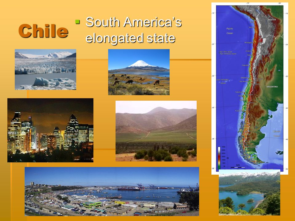 Created by Katherine Snyder Chile  South America's elongated state