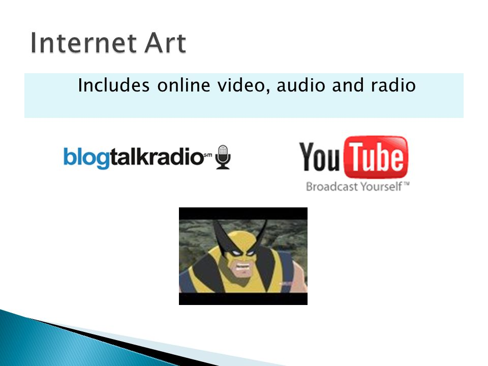 Includes online video, audio and radio
