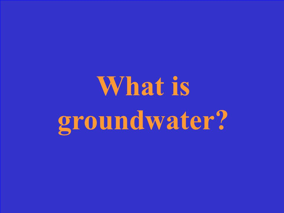 Water stored in the ground.