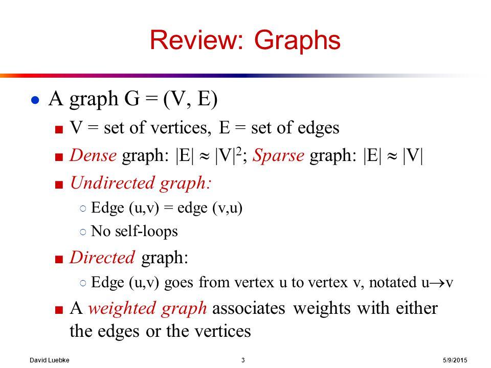 David Luebke 34 5/9/2015 DFS Example 1                 source vertex d f