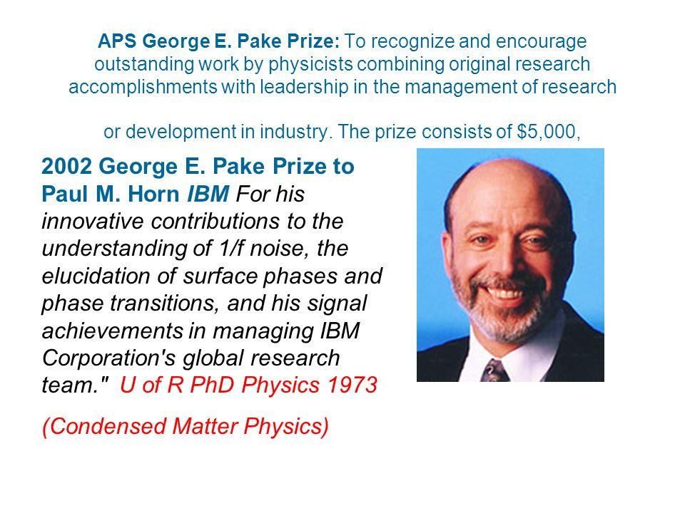 APS George E.