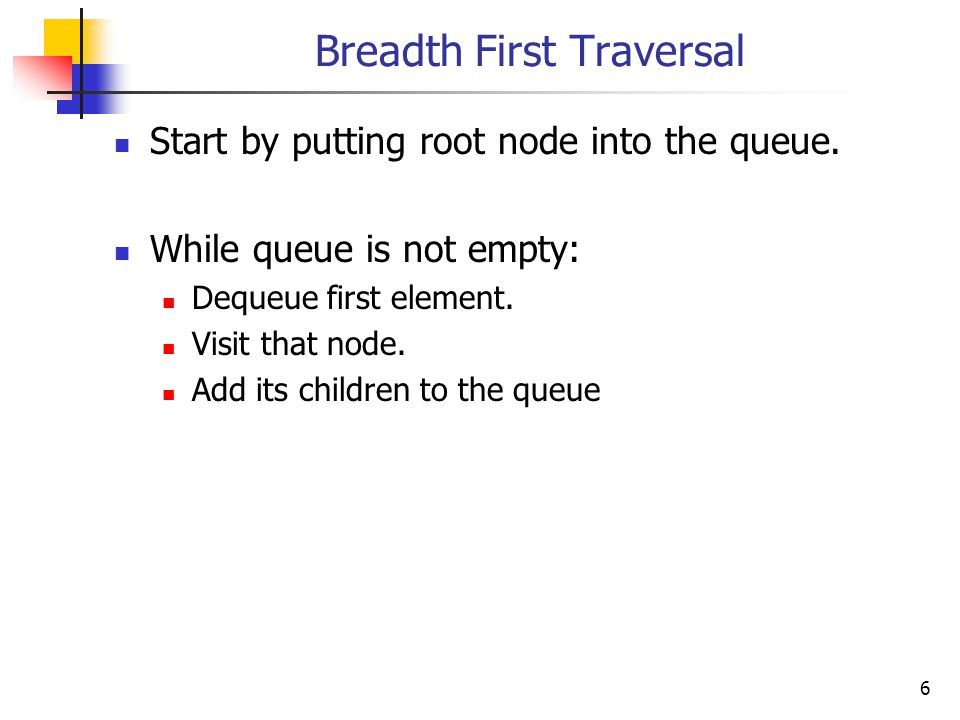 7 Implementing the Queue Drozdek uses the Queue template from the Standard Template Library.