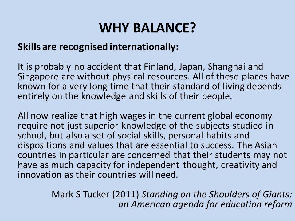 WHY BALANCE.