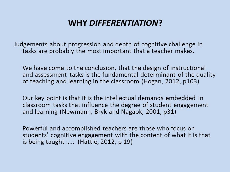 WHY DIFFERENTIATION.