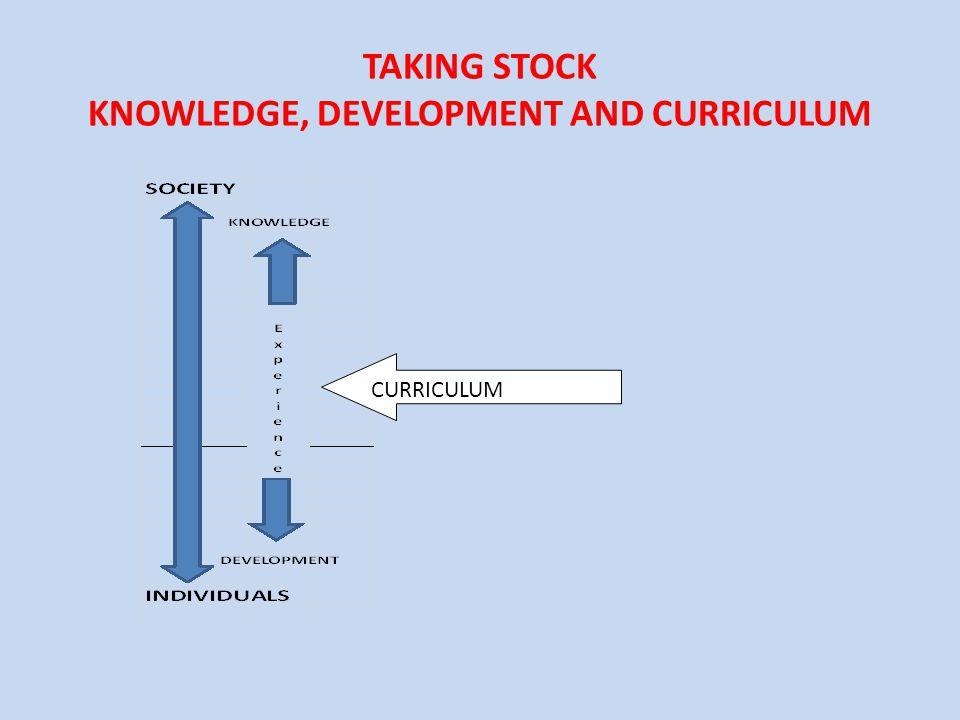 TAKING STOCK KNOWLEDGE, DEVELOPMENT AND CURRICULUM CURRICULUM