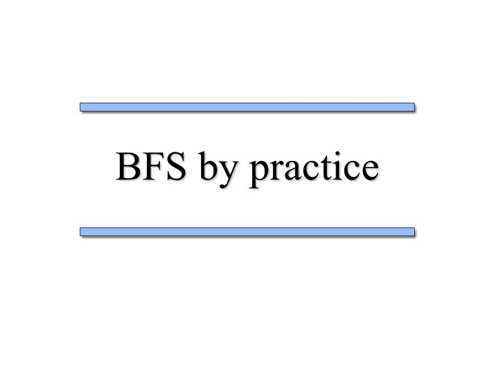 BFS by practice