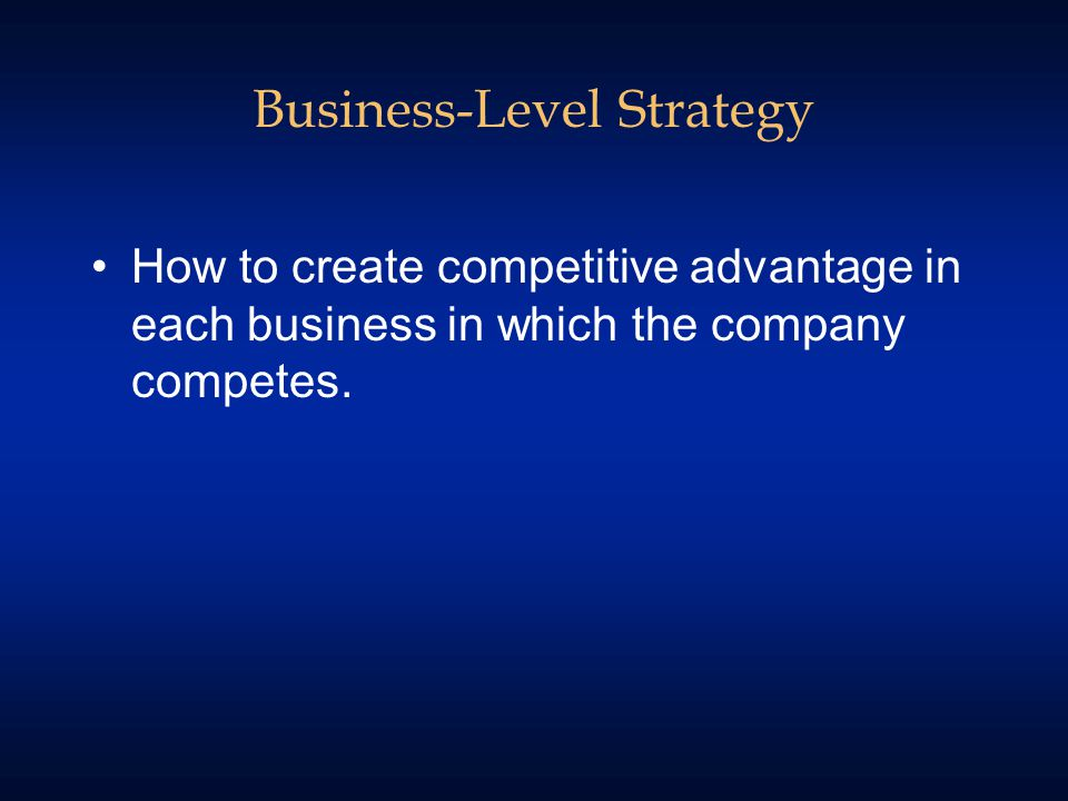 Generic Business Level Strategies CostUniqueness Source of Competitive Advantage