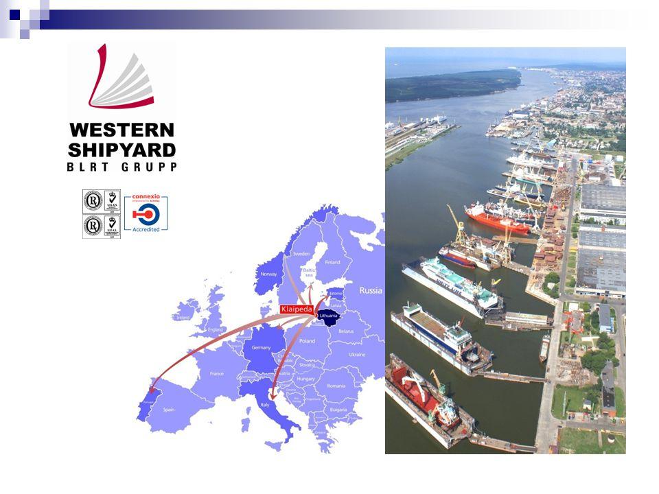 Western Shiprepair Yard ship repair by vessel classes 2009, %