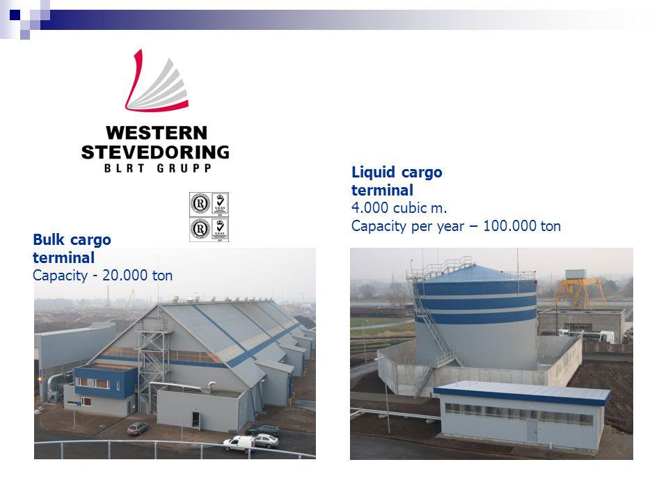 Liquid cargo terminal 4.000 cubic m.