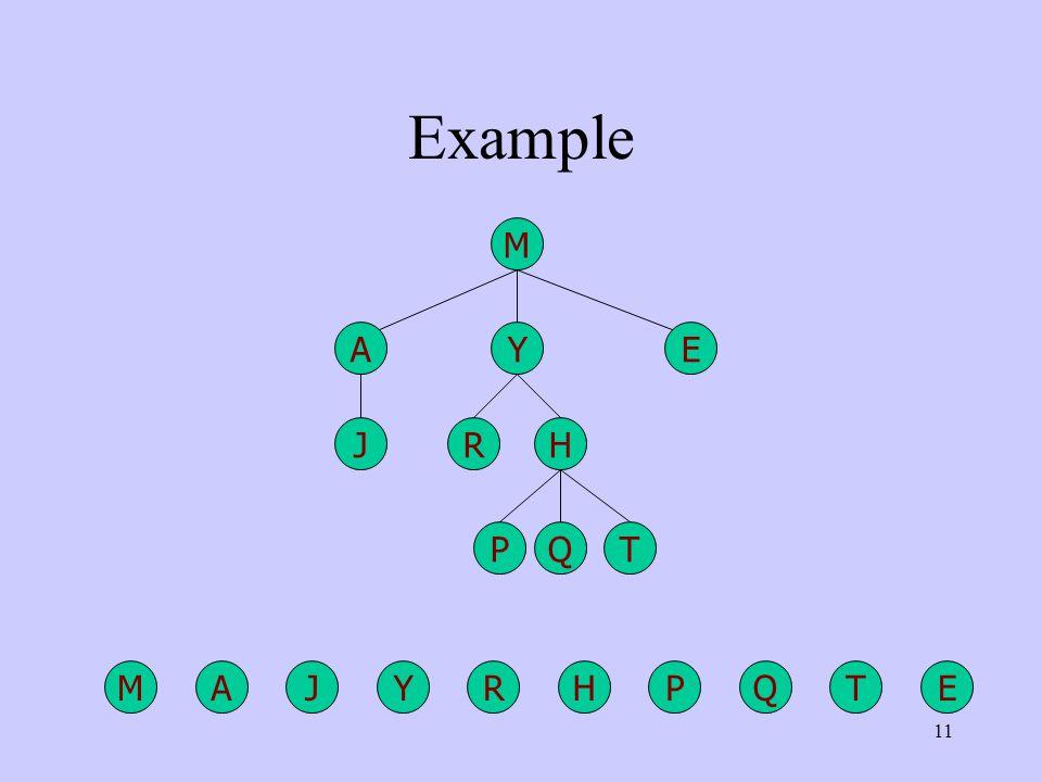 11 Example AREYPMHJQT A R EY P M HJ QT