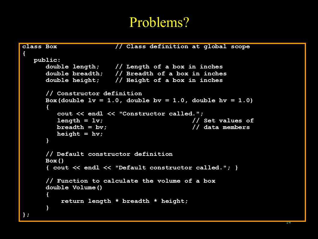 14 Problems.