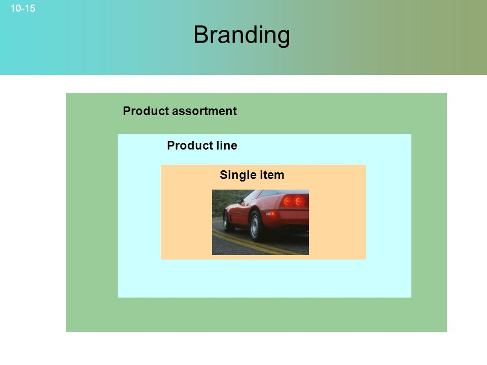 10-15 Branding Product assortment Product line Single item