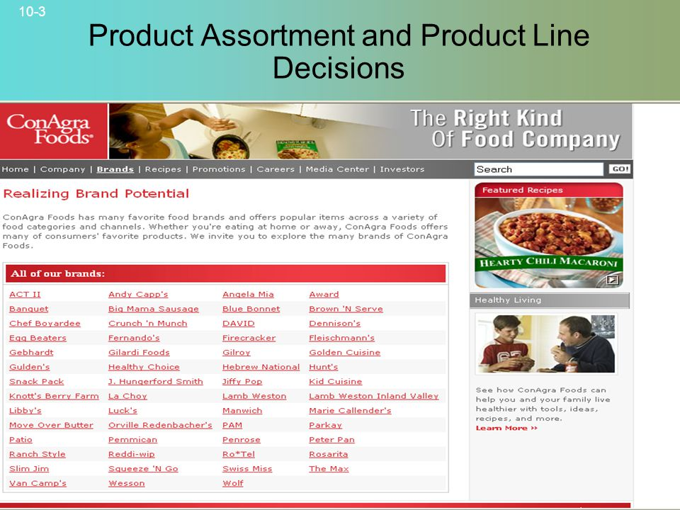 10-3 © 2007 McGraw-Hill Companies, Inc., McGraw-Hill/Irwin Product Assortment and Product Line Decisions