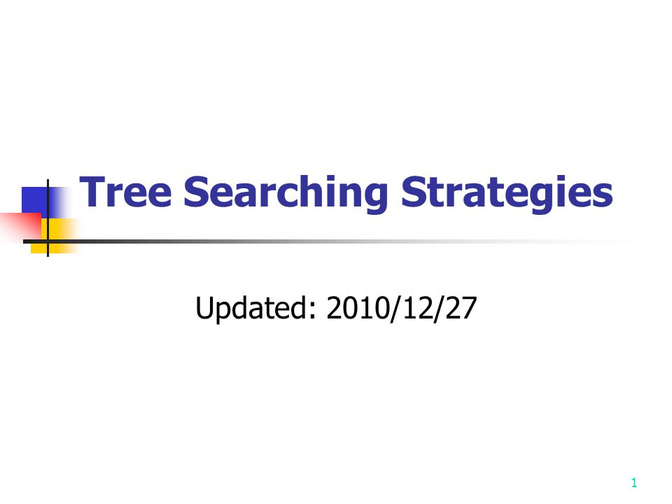 1 Tree Searching Strategies Updated: 2010/12/27