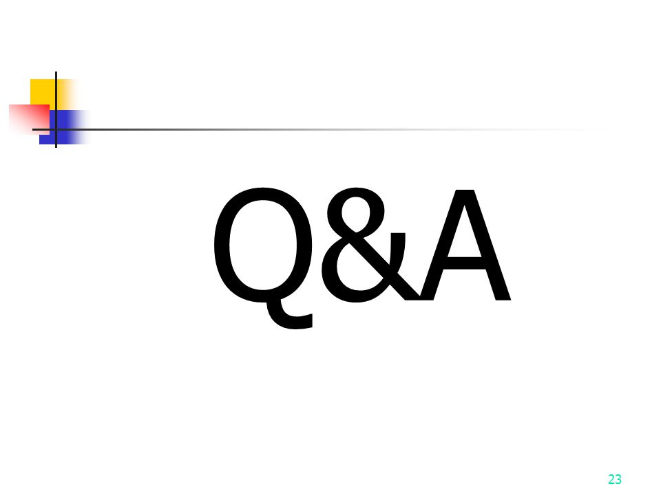 Q&A 23