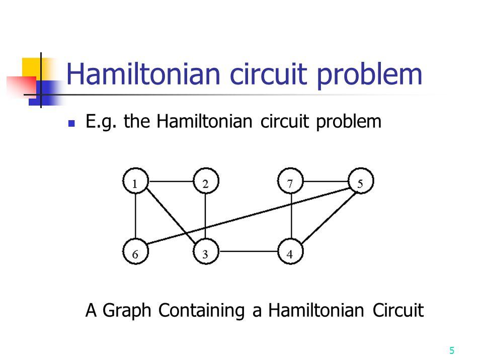 5 Hamiltonian circuit problem E.g.