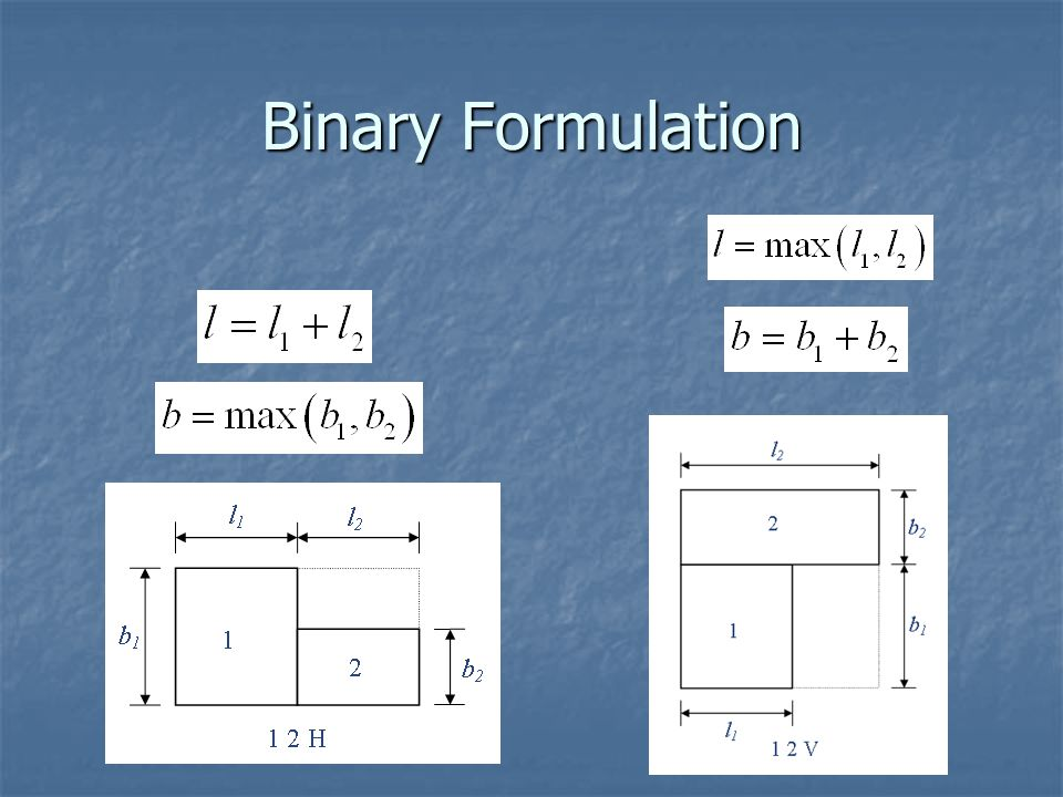 Binary Formulation
