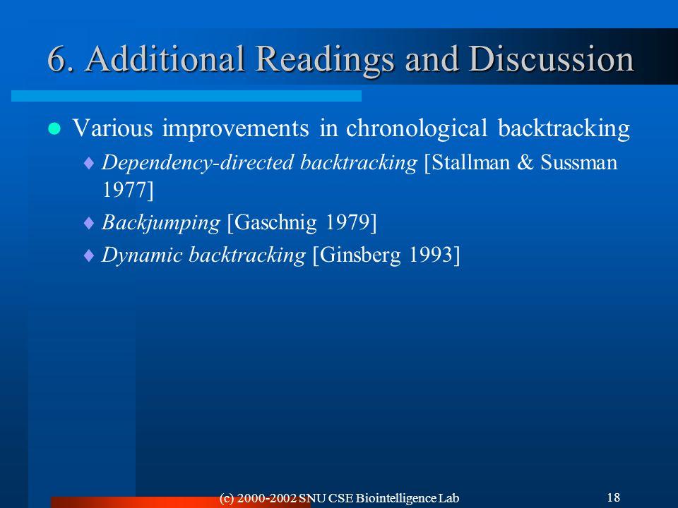(c) 2000-2002 SNU CSE Biointelligence Lab 18 6.