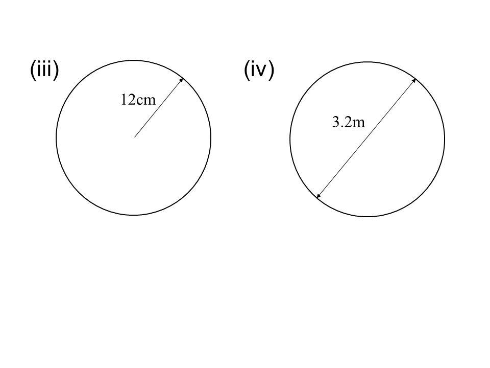 (iii) (iv) 12cm 3.2m