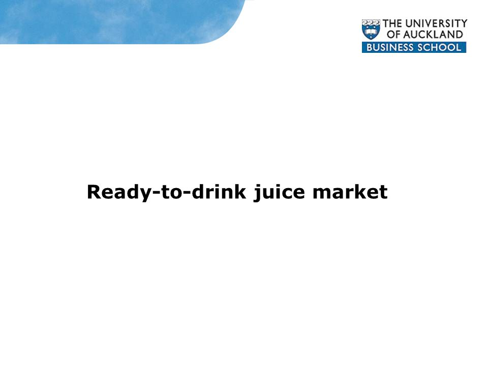 Ready-to-drink juice market