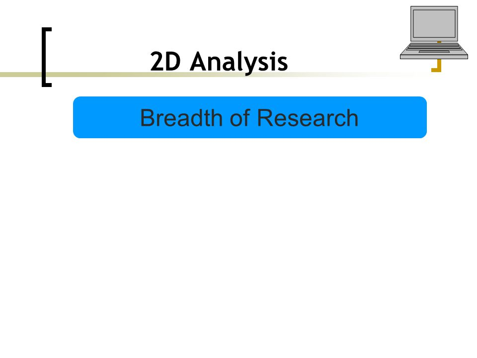 2D Analysis Breadth of Research