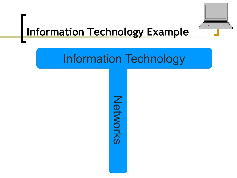 Information Technology Example Information Technology Networks