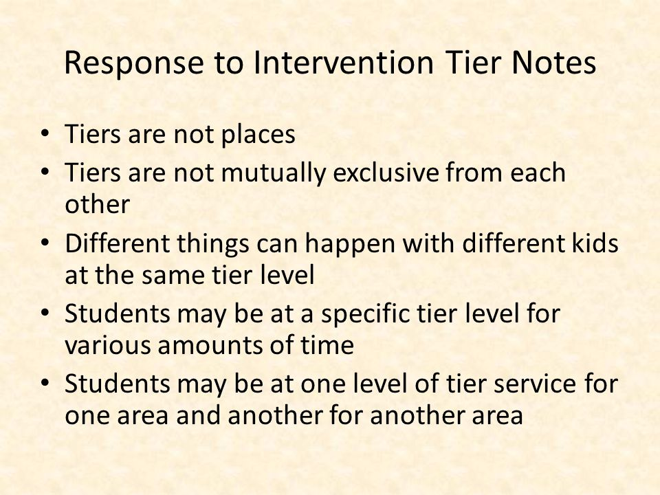 Tier 3 Individualized Instruction Tier 2 Small Group Standard Protocol Instruction Tier 1 Core Universal Curriculum