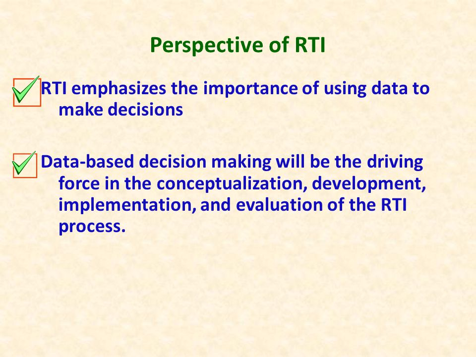 Definitional Components of RTI RTI is an overall integrated system of service delivery focused on ALL students.