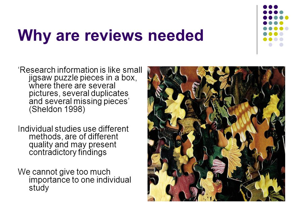 Why do you need to carry out a literature review.