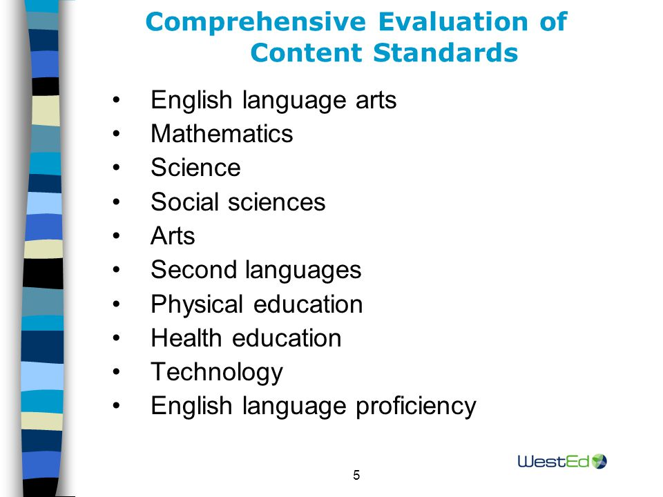 16 Standards Evaluation Studies (continued) Alignment to External Referents (continued) Oregon's science standards were compared to Indiana's science standards and the AAAS benchmarks (2001).